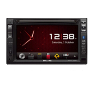 "Philips CED1910BT Double Din 7"" AM / FM / CD / DVD / MP3 / AUX / USB / SD / Bluetooth / Navigation"